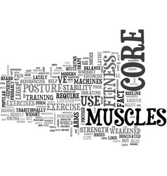 Why core fitness is important text word cloud vector