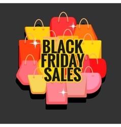 Black Friday sales vector image vector image