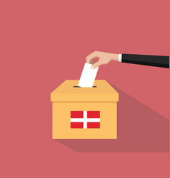 denmark vote election concept with vector image vector image
