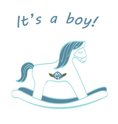 it s a boy - welcoming card vector image