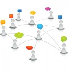 networking figures vector image vector image