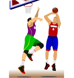 al 1110 basketball 02 vector image