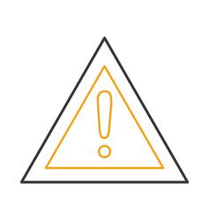 alert sign isolated icon vector image vector image