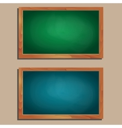 set of empty wooden blackboards vector image