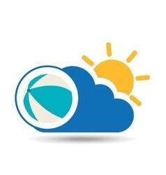 summer vacation design beach ball icon vector image