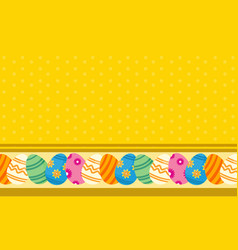 background of easter egg flat vector image vector image
