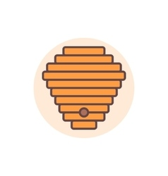 Beehive flat icon vector image