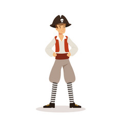 brave pirate sailor character vector image
