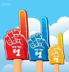 Foam finger fan vector image vector image