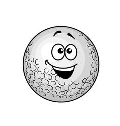 Funny cartoon golf ball vector image vector image
