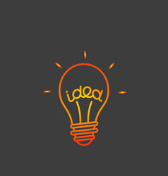 idea concept lightbulb icon vector image vector image