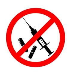 no drugs symbol vector image vector image