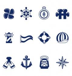 Sailing icons vector