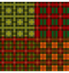 Set plaid patterns tartan vector