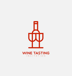 wine tasting logo vector image vector image