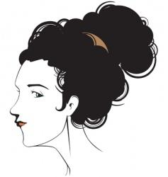 female head vector image vector image