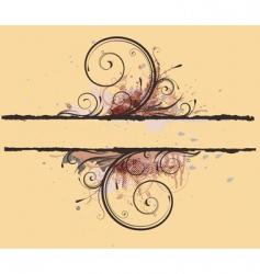 floral decorative banner vector image