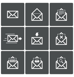Mail icons Mail delivery symbol Print Spam vector image