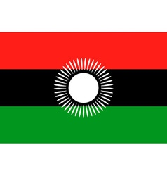 malawian flag vector image vector image
