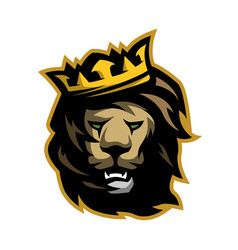 The lion king with a crown vector