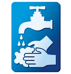wash your hands sign vector image vector image