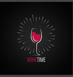 wine glass menu design background vector image vector image