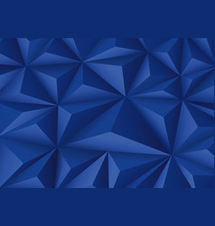 abstract blue triangle polygon pattern luxury vector image