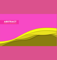 abstract paper cut design and multi layers forms vector image