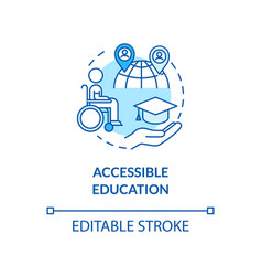 Accessible education concept icon vector