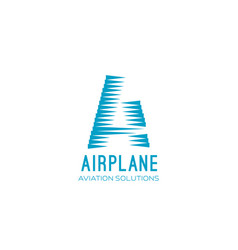 airplane aviation sign vector image
