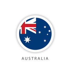 Australia circle flag template design vector