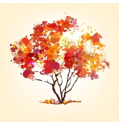 autumn tree of blots background vector image