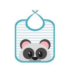 baby bib design vector image