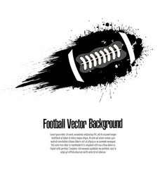 Background abstract football ball from blots vector