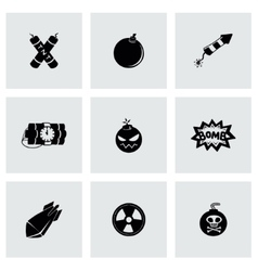 Bomb icon set vector image