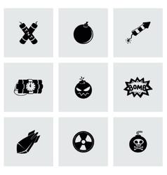 Bomb icon set vector