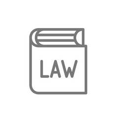 book with laws constitution line icon vector image