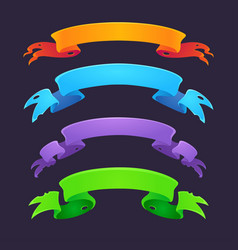bright flags and ribbons for your game user vector image