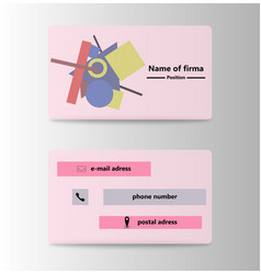 business card creative visit card vector image vector image
