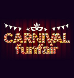 Carnival funfair background carnival vector