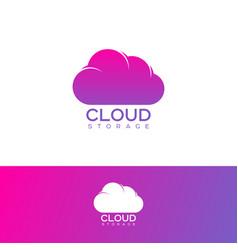 Cloud computing logo communication emblems vector