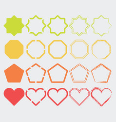 colorful shape icons in different colors set 2 vector image