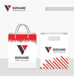 company shopping bags design with creative design vector image