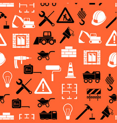 construction seamless pattern background vector image