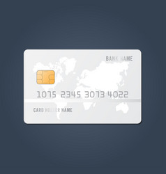 credit card realistic mockup clear plastic card vector image
