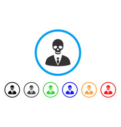 Deadly manager rounded icon vector