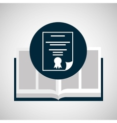 education opened book diploma icon vector image