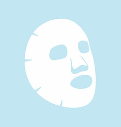 facial mask flat icon vector image