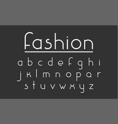Fashion font vector