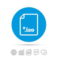 file iso icon download virtual drive file vector image